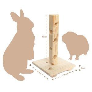 Futterbaum für Kaninchen: Gesunde Ernährung mit Spaß