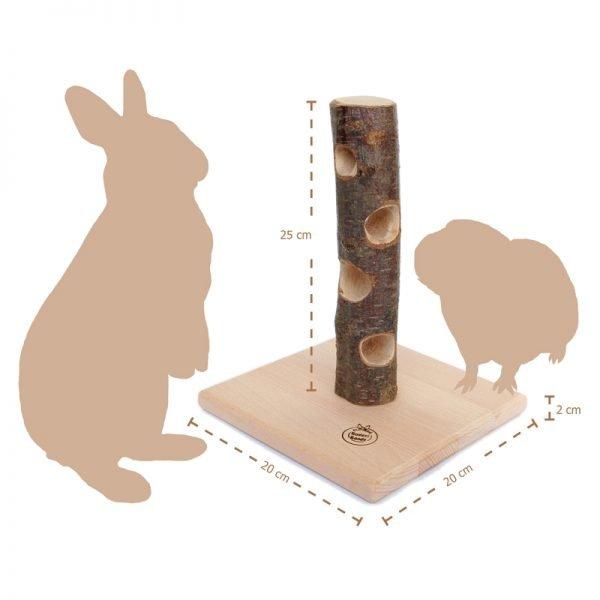 Futterbaum (natur) für Kaninchen: Gesunde Ernährung mit Spaß