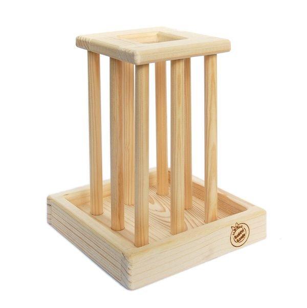 Holz-Heuraufe für Kaninchen & Nager