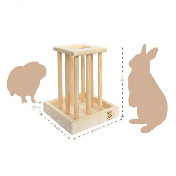 Holz-Heuraufe für Kaninchen & Nager (25 cm)