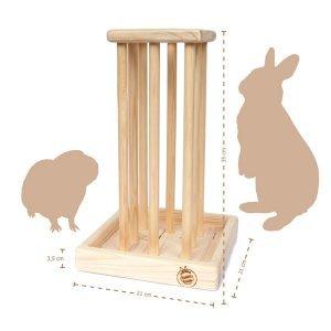 Holz-Heuraufe für Kaninchen & Nager (35 cm)